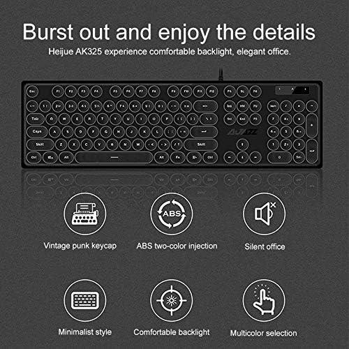 Color : Black AK325 Girls Mechanical Backlit Gaming Keyboard