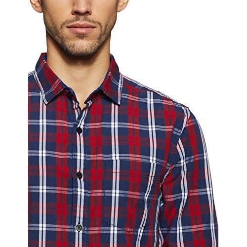 51ozvy4bAgL. SS500  - Amazon Brand - Symbol Men's Checkered Regular Fit Casual Shirt