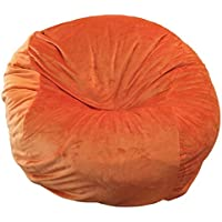 Ahh! Products - 36 Wide Washable Large Bean Bag Chair - Orange Cuddle Soft Minky Plush