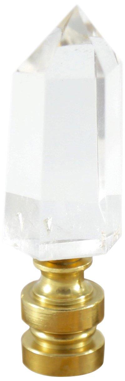 Stephen D. Evans F-F-CQUA Clear Quartz Crystal Pt. Lamp Finial