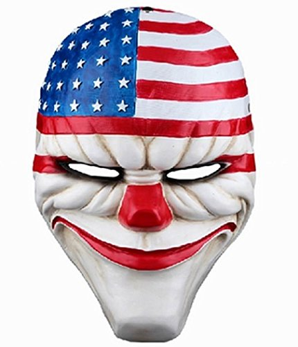 K.N. Payday 2 Dallas Resin Mask Halloween Party Cosplay Costume -