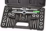Pittsburgh 40 Piece Carbon Steel Metric Tap and Die Set by Pittsburgh