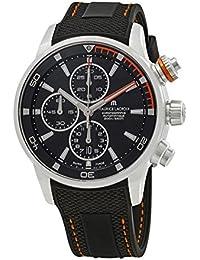 Pontos S Chronograph Men's Black Dial Black Rubber Strap Swiss Automatic Watch PT6008-SS001-332-1