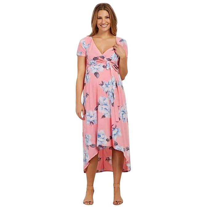 SamMoSon 2019 Camison Lactancia Vestidos Verano Mujer Vestidos De Fiesta Mujer Ropa Lactancia,Embarazo V