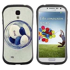 "Hypernova Slim Fit Dual Barniz Protector Caso Case Funda Para SAMSUNG Galaxy S4 IV / i9500 / i9515 / i9505G / SGH-i337 [Doctor Love Minimalista Azul Blanco""]"