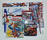 Spiderman Activity Bundle Puzzle in Tin Storage Dry Erase Board Jumbo Coloring Book 7 Piece Sketchbook Jumbo Crayons Pen and Pencil