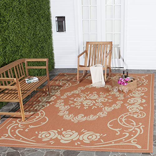 Safavieh Courtyard Collection CY1893-3202 Terracotta and Natural Indoor/ Outdoor Area Rug (5'3