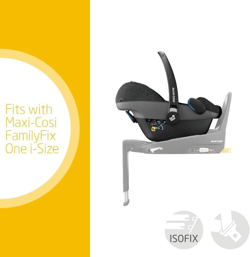 مقعد سيارة للأطفال ماكسي كوسي روك من مجموعة 0+، أيزوفيكس، مقعد سيارة بمقاس واحد، مواجه للخلف، من عمر الولادة إلى 12 شهر، وزن 0-12 كغم، لون رمادي