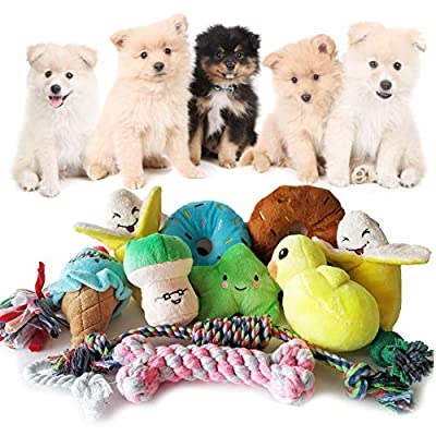 SenYoung-Dog-Toys12-Pack-Dog-Squeaky-Rope-Chew-Toy-Sets-Interactive-Cute-and-Safe-Stuffed-Plush-Squeaker-Toys-Tough-Puppy-Teething-Cotton-Tug-Toys-Durable-and-Washable-for-SmallMedium-Dogs