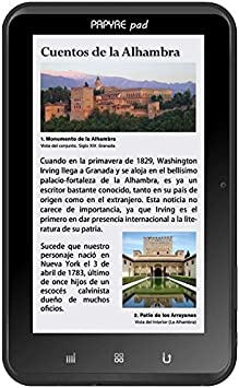 Grammata Papyre Pad 712 - Lector de eBooks, color negro: Amazon.es ...