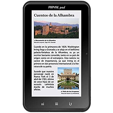 Grammata Papyre Pad 712 - Lector de eBooks, color negro: Amazon.es ...