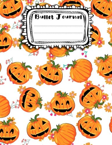 Bullet Journal: A4 - 156 pages - Halloween - Monstres rigolos - Fantomes - Citrouilles - Dot point, bullet journal, dot grid, planner, planning, organizer, journal, Fleurs, Bujo (French Edition)]()