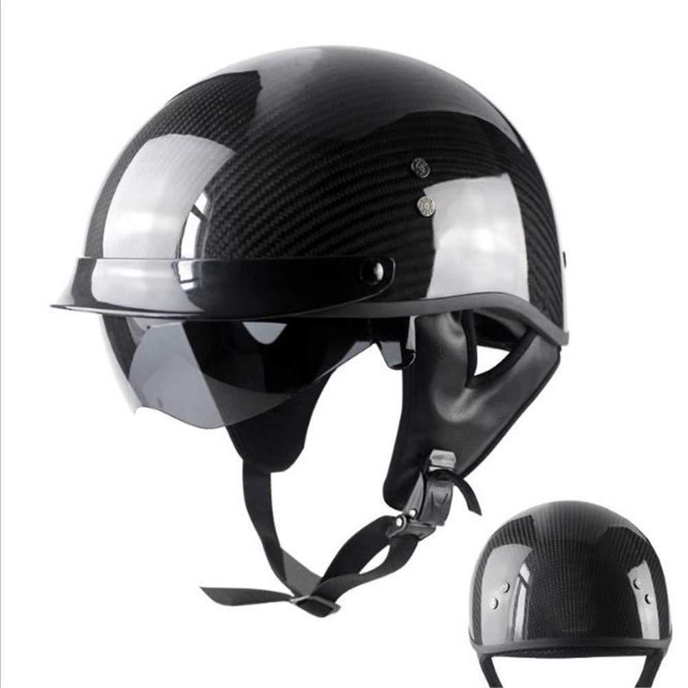 男性と女性のための大人のオフロードヘルメット&ゴーグルギアコンボ、ブラック/カーボンファイバー。 XL  B07R14D5FK