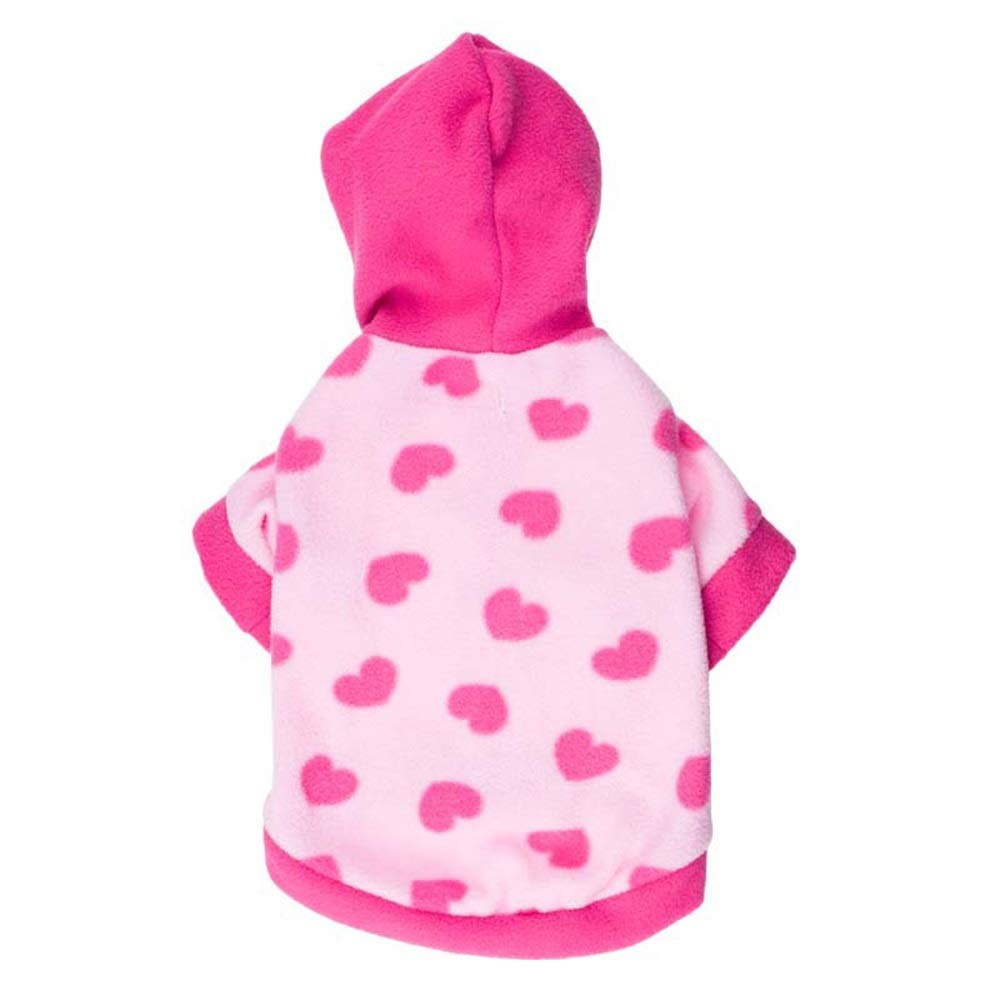 As shown S As shown S Huayue Low Dogs, Pity, Favorite, Entire of Hearts, Hood, Fleece, Dog Clothing (color   As Shown, Size   S)
