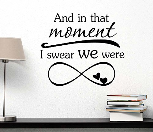 And in that moment I swear we were infinite movie inspired. Vinyl Wall Decor Quotes Sayings inspirational lettering movie sticker stencil wall art decor