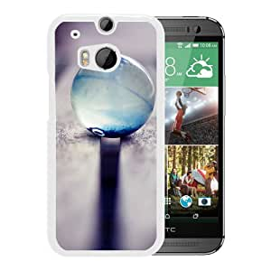 New Beautiful Custom Designed Cover Case For HTC ONE M8 With Glass Bead (2) Phone Case