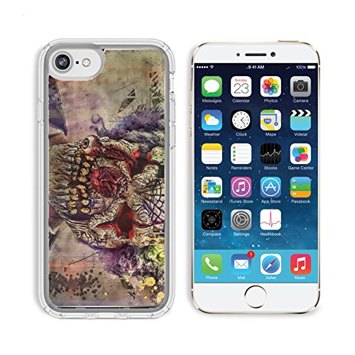 Images Of Scary Clowns (MSD Premium Apple iPhone 6 iPhone 6S Clear case Soft TPU Rubber Silicone Bumper Snap Cases IMAGE ID 30548880 scary clown)