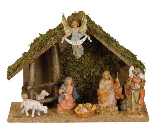 Fontanini by Roman Figure Centennial Nativity Set with Italian set 7-Piece 5-Inch Each by Fontanini by Roman