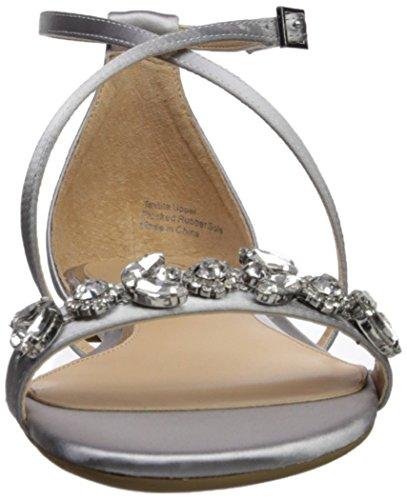 Badgley Mischka Bijou Femmes Tessy Sandale Plate Argent