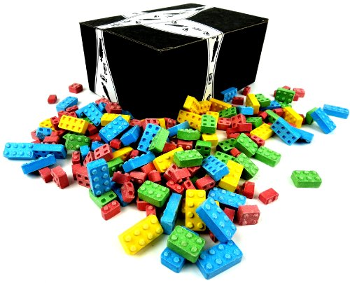 Candy Blocks by Cuckoo Luckoo Confections, 2 lb Bag in a BlackTie - Dairy Free Candy
