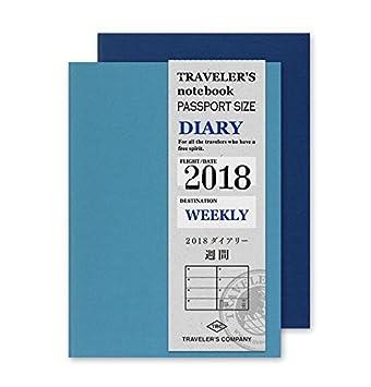 traveler S Notebook 2018 Weekly Diary Passport Size ...