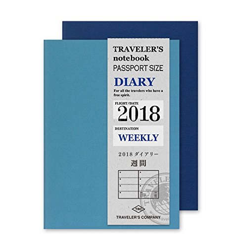 MIDORI TRAVELER'S Refill 2018 WEEKLY (Passport size)