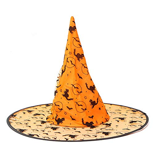 Festival Gifts Party Supplies Halloween Supplies - Pointy Sorceress Witch Wizard Party Costume Hat - Orange - 1 x Witch Hat Notice Please allow 1-3mm error due to manual measurement and ma -