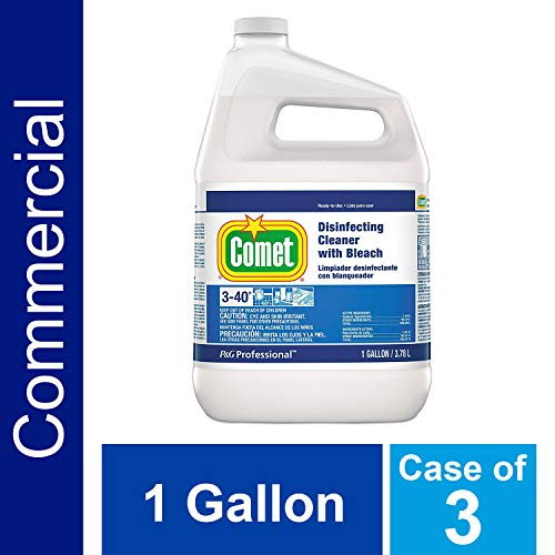 - Hospital Grade Disinfecting Bathroom Sanitizer by Comet Professional, Multi-Purpose Liquid Cleaner with Bleach Wipes up Pathogens, Ready to Use Bulk Refill for Commercial Use, 1 Gal. (Case of 3)