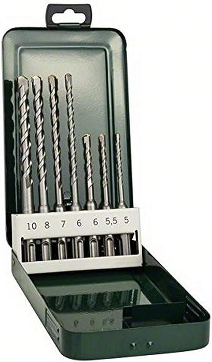 Navaris Foret SDS Plus Set 5x m/èche 5//6//6//8//10 mm en acier pour marteau perforateur /électrique SDS PLUS Ma/çonnerie b/éton brique pierre