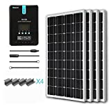 Renogy 400 Watt 12 Volt Monocrystalline Solar Starter Kit with 40A Rover MPPT Charge Controller