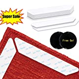 Sotosh Rug Grippers 12 Pcs No-Slip Rug Tape Carpet Gripper Reusable for Hardwood Floors - Anti Slip Carpet Tape Keeps Your Rug in Place & Makes Corners Flat