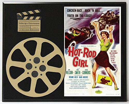 HOT-ROD GIRL LORI NELSON JOHN SMITH LTD EDITION MOVIE REEL DISPLAY
