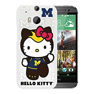 New Unique Custom Designed Case With Ncaa Big Ten Conference Football Michigan Wolverines 3 White For HTC ONE M8 Phone Case