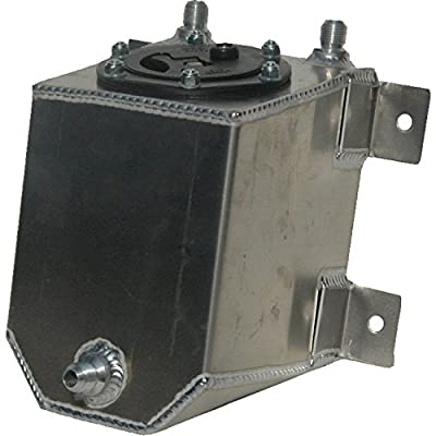 RCI 2010A Aluminum Fuel Cell, Natural Aluminum Color, 1 Gallon, 6L x 6W x 6H: Automotive