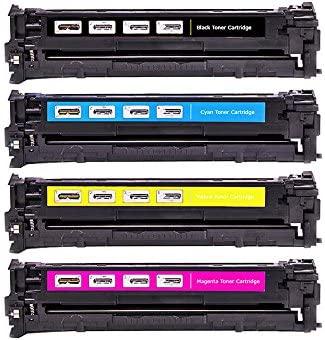 tian-4 PK juego de cartuchos de tóner para impresora HP CC530 A – CC533 A 304 A color Laserjet CM2320NF CM2320MFP