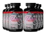 Top Libido Booster with Herbal Ingredients - Pure Female Sexual Support Formula with Horny Goat Weed 1000 Mg (6 Bottles 360 Capsules)