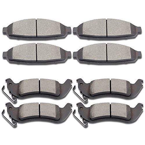 Disc Town Lincoln Brake Car (SCITOO Ceramic Disc Brake Pads Set for 2003-2011 Ford Crown Victoria,2005-2011 Lincoln Town Car,2007-2011 Mercury Grand Marquis)