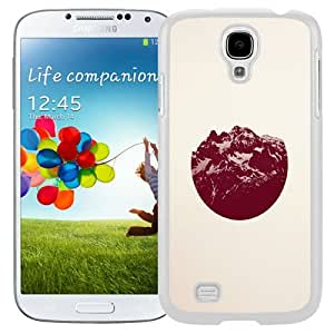 Lovely Phone Case Red Mountain Circle Logo Galaxy S4 Wallpaper in White