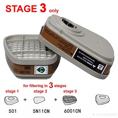 3M 6001 Cartridge Organic Vapor Supplied Air Respirator