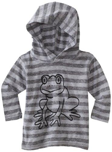 Charlie Rocket Baby Boys' Stripe Frog Hoodie