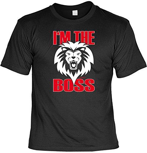 T-Shirt - Löwe - I'm the Boss - lustiges Sprüche Shirt als Geschenk für Leute mit Humor