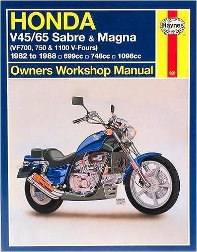 Honda v4565 sabre magna vf700m 750 1100 v fours 1982 to 1988 honda v4565 sabre magna vf700m 750 1100 v fours 1982 to 1988 owners workshop manual haynes repair manuals 1st edition fandeluxe Images