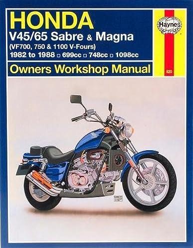 honda v45 65 sabre magna vf700m 750 1100 v fours 1982 to 1988 rh amazon com V45 Magna 1982 Honda V45