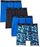 Hanes Men's X-Temp 4-Way Stretch Mesh Boxer Brief 4-Pack, Dark Assorted, Large