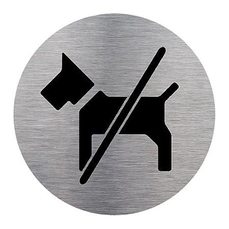 Diam/ètre 83 mm Aspect Plaque Aluminium Bross/é Adh/ésif de porte Caf/ét/éria