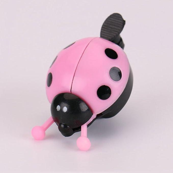 Girl Kid Children Bicycle Bell Ladybug Beetle Ladybird Alarm Bike Metal Ring Toy