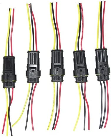WATERPROOF CONNECTORS MALE /& FEMALE MARINE CONNECTORS 1 WAY KIT 12V//24V