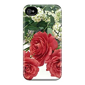 PmLRist8223LnZon Case Cover Romantic Red Roses Iphone 4/4s Protective Case