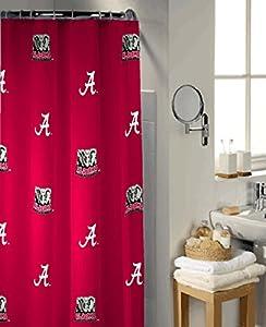 Charming Alabama Crimson Tide Shower Curtain