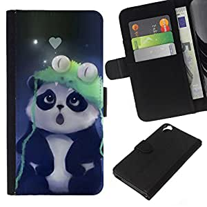 NEECELL GIFT forCITY // Billetera de cuero Caso Cubierta de protección Carcasa / Leather Wallet Case for HTC Desire 820 // Cute Panda